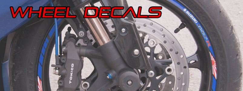 Agusta Brutale 800 wheel decals stickers set rim stripes Laminated red