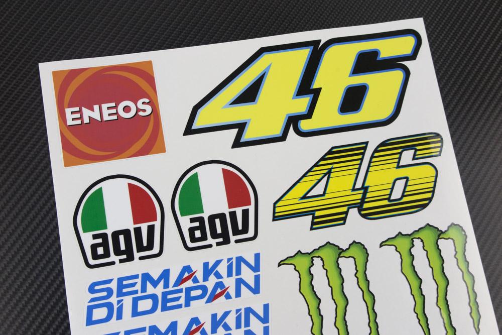 Aufkleber Sponsor MOTOGP Rossi 46 Decals Motorrad Lorenzo SBK QUARTARARO VI/ÑALES